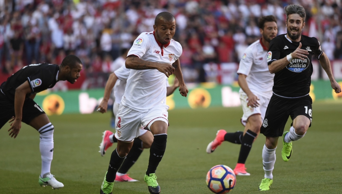 Mariano, in the Sevilla FC-Deportivo
