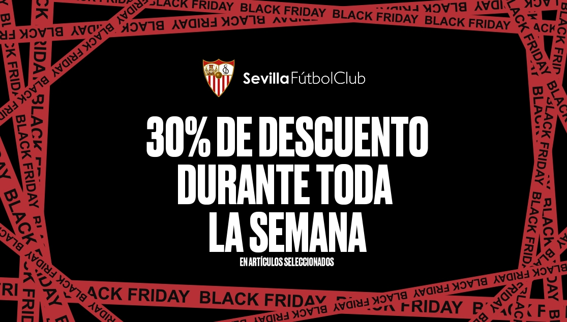 Black Friday discount in the official Sevilla FC shops
