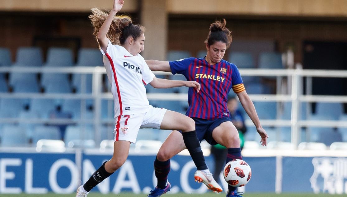 Olga Carmona, jugadora del Sevilla FC femenino