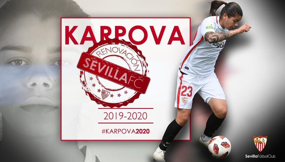 Karpova, jugadora del Sevilla Femenino.