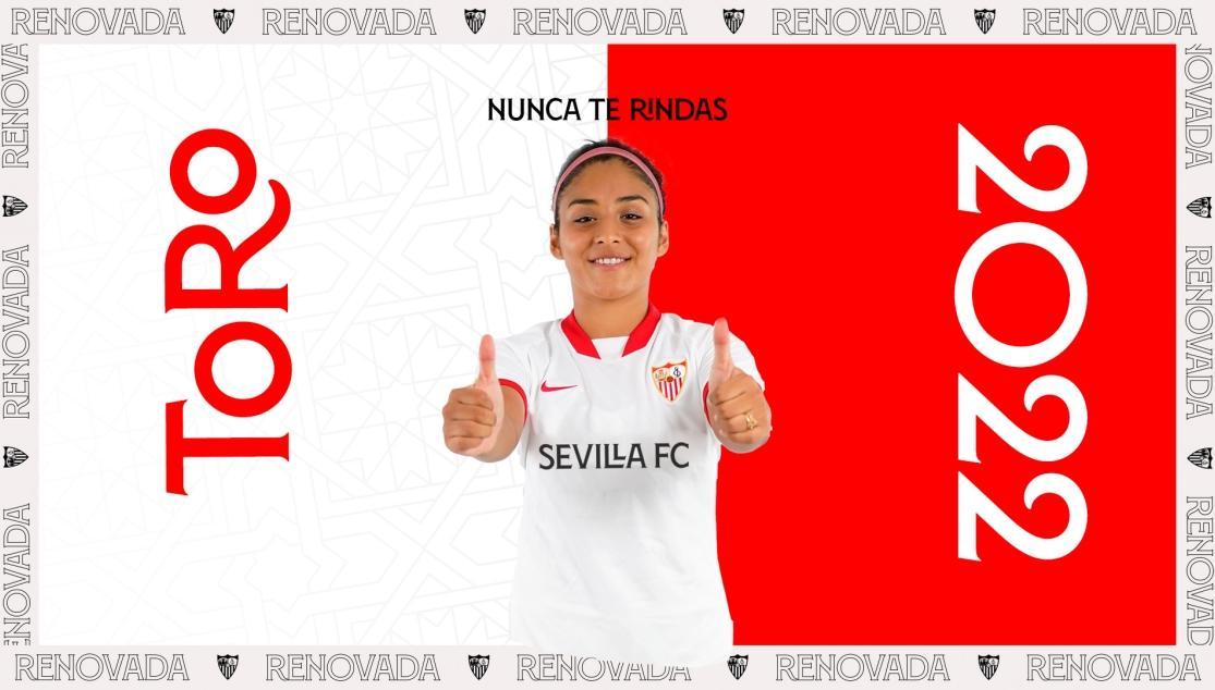 JAVIERA TORO RENUEVA CON EL SEVILLA FC FEMENINO HASTA JUNIO DE 2022