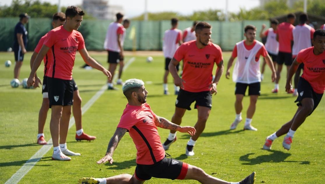 Entrenamiento del Sevilla FC del jueves 11