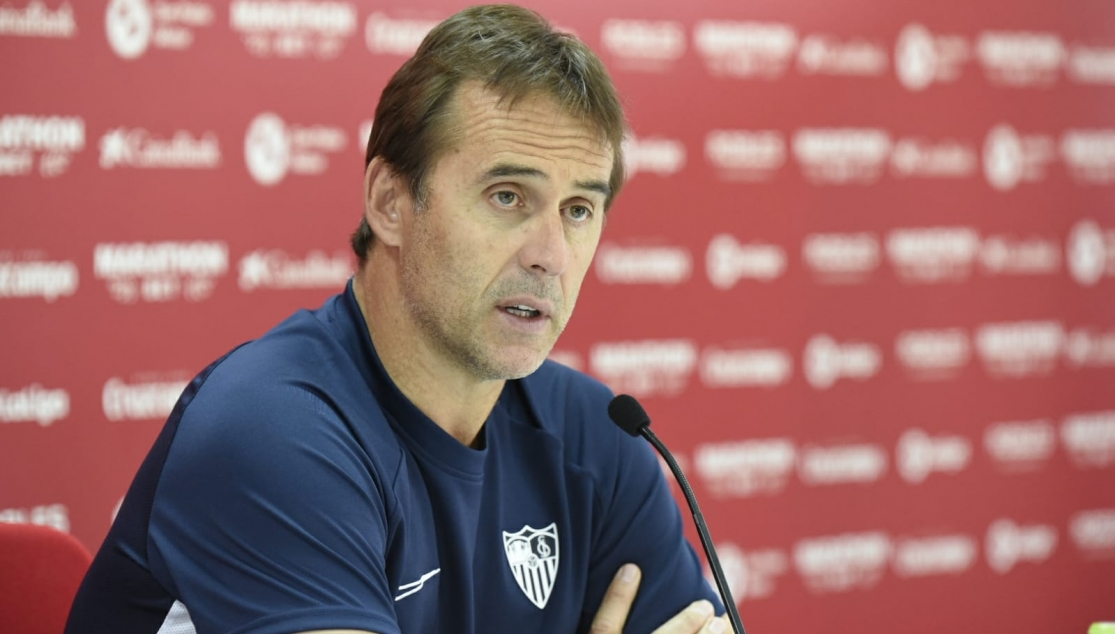 Julen Lopetegui during the press conference