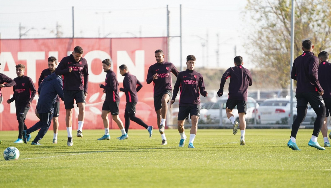 Sevilla FC training, Monday 13th January