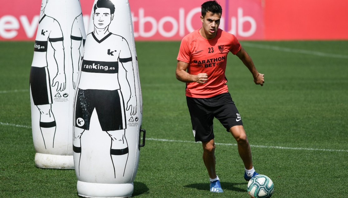 Reguilón in training, Friday 15th May 2020