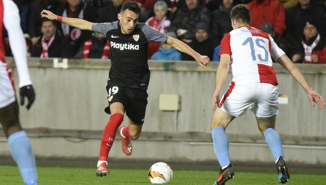 Munir against Slavia Prague