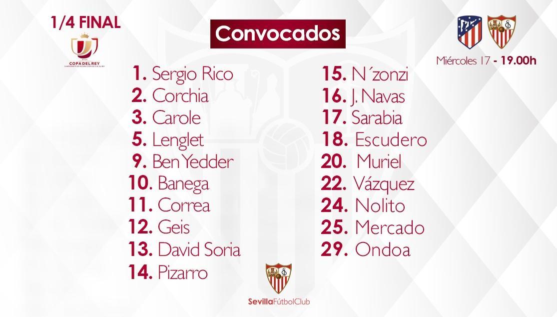 atletico_%20CONVOCADOS Escudero entra en la lista de Copa y Kjaer se queda fuera - Comunio-Biwenger