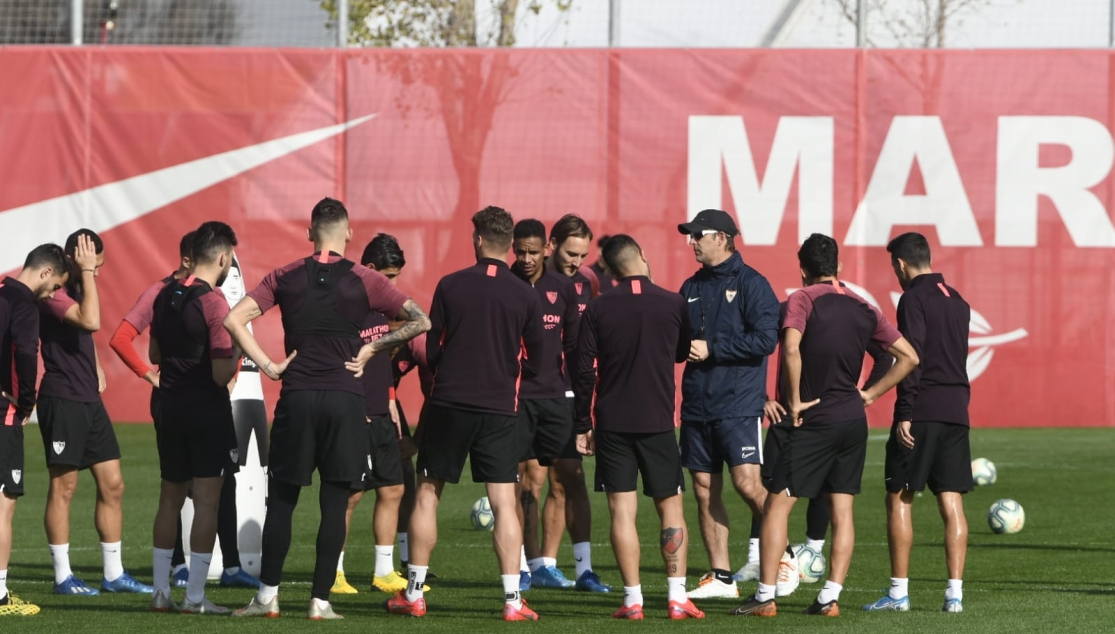 Sevilla FC training, Thursday 13th February
