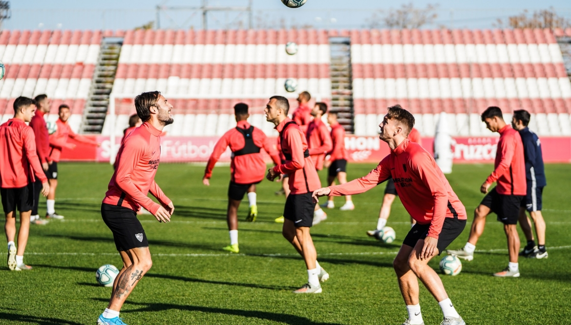 Sevilla FC training, Friday 6th December