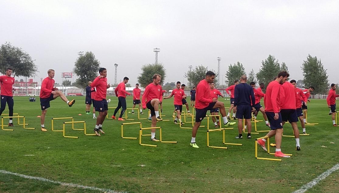 entrenamiento30octubre Correa está descartado para la Champions y ante el Barça - Comunio-Biwenger