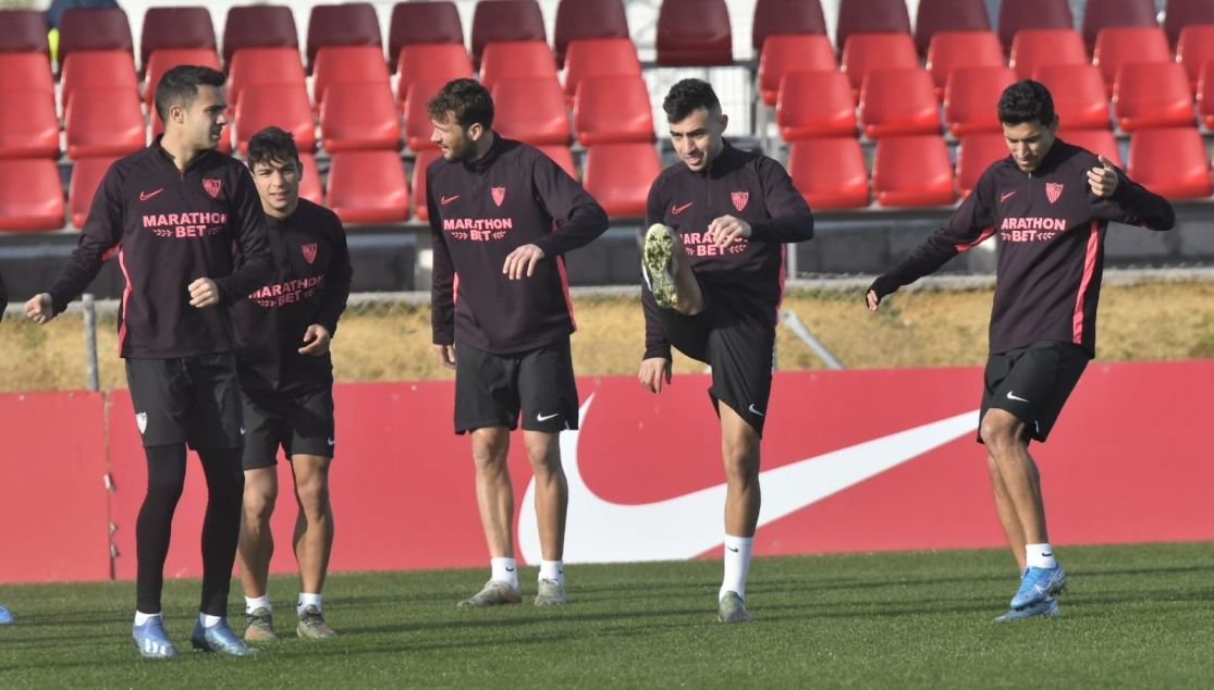 Sevilla FC training, Wednesday 15th January