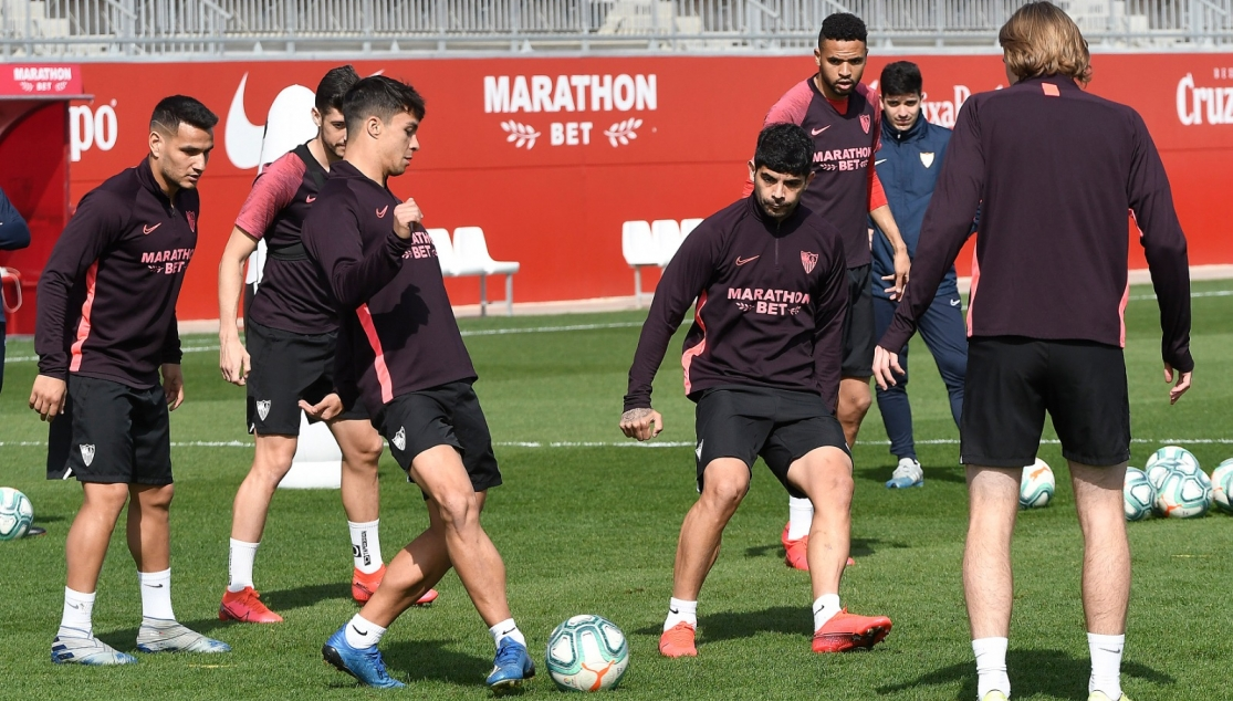 Sevilla FC training, Friday 28th February
