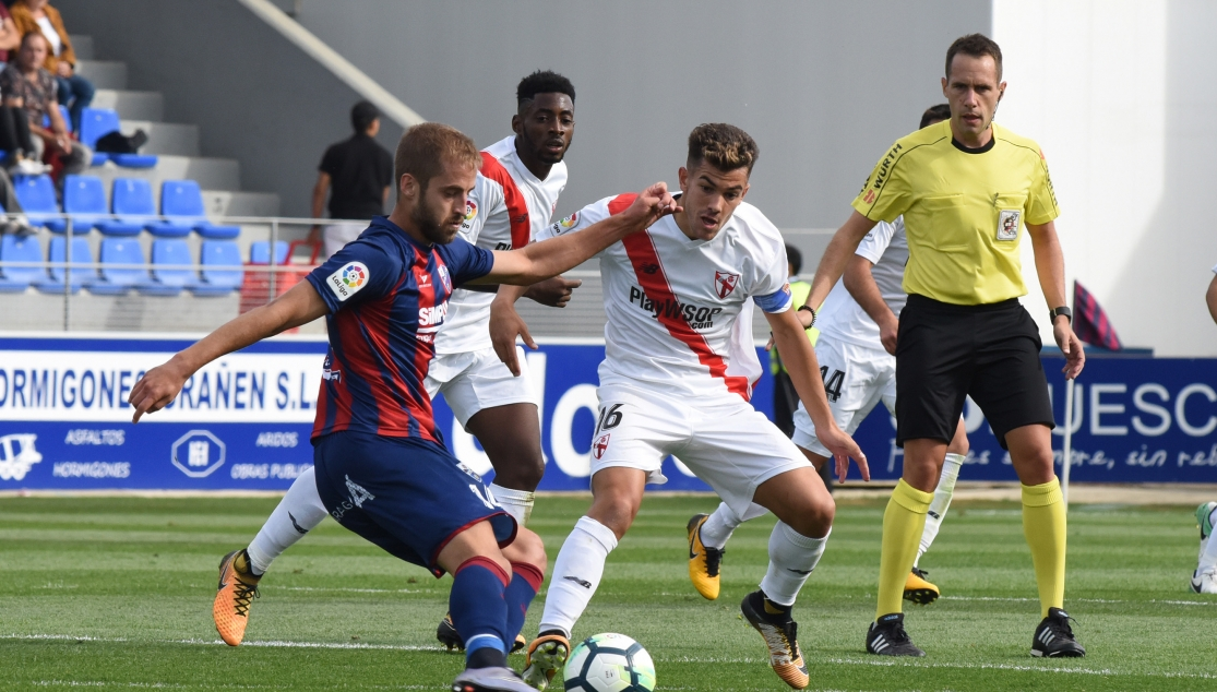 The match between Huesca and Sevilla Atlético