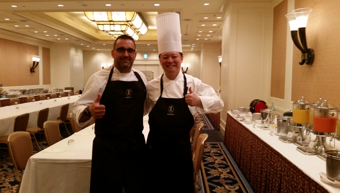 José Antonio Lora with the Imperial Osaka Hotel chef