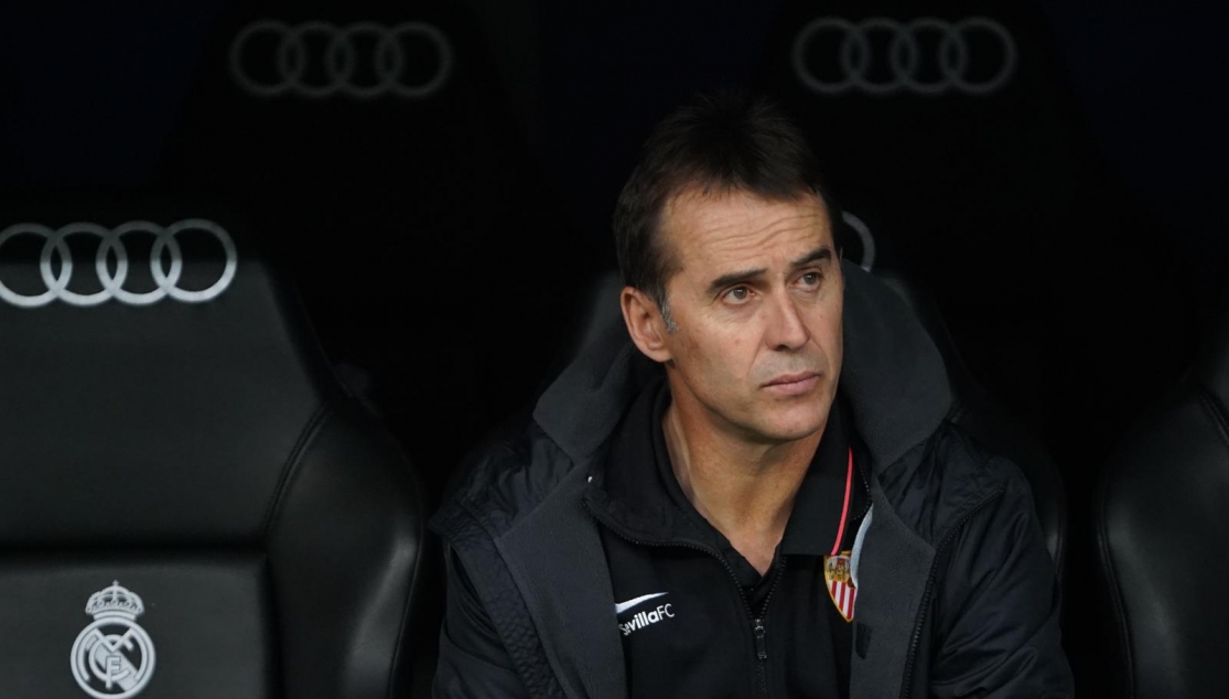 Julen Lopetegui in charge at the Santiago Bernabéu