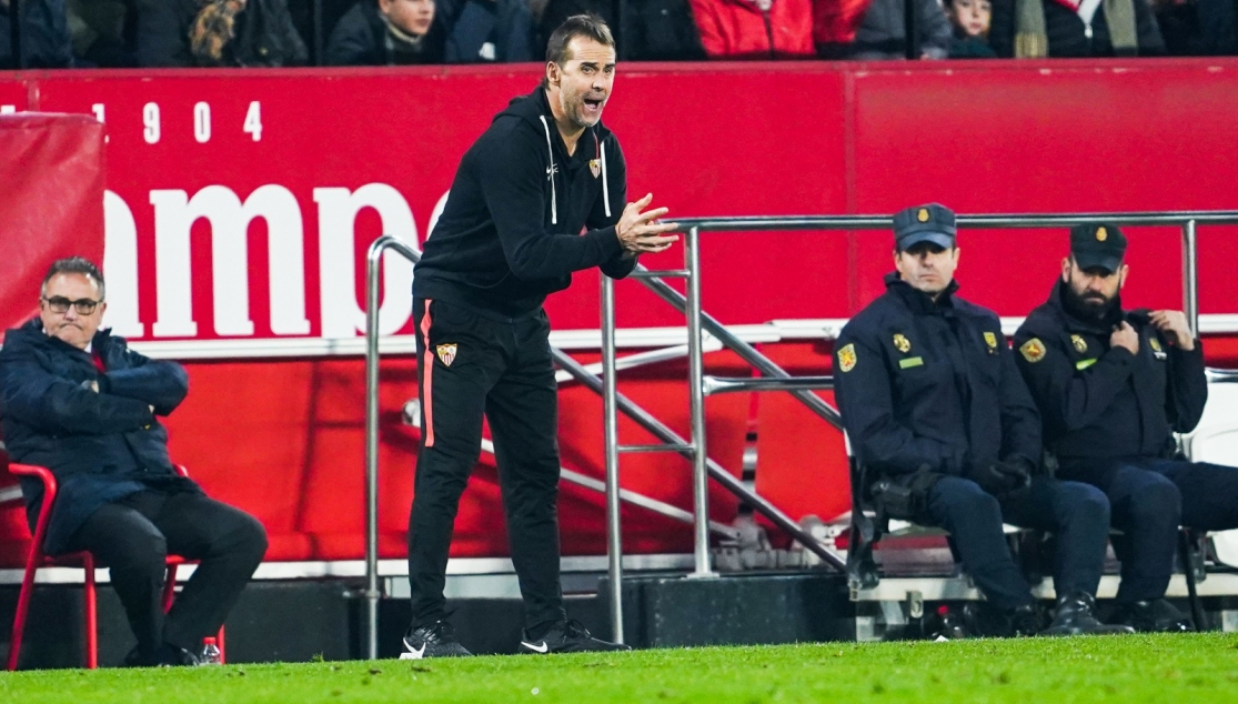 Julen Lopetegui during the game against Athletic Club in the Sánchez-Pizjuán