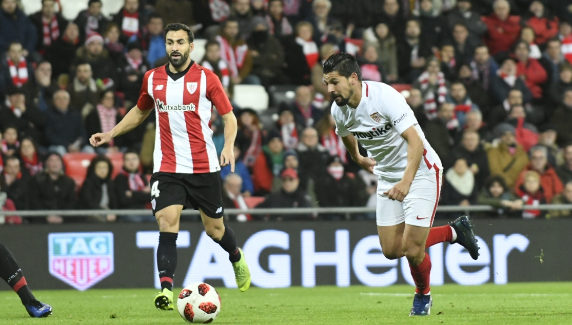 Nolito del Sevilla FC ante el Athletic Club