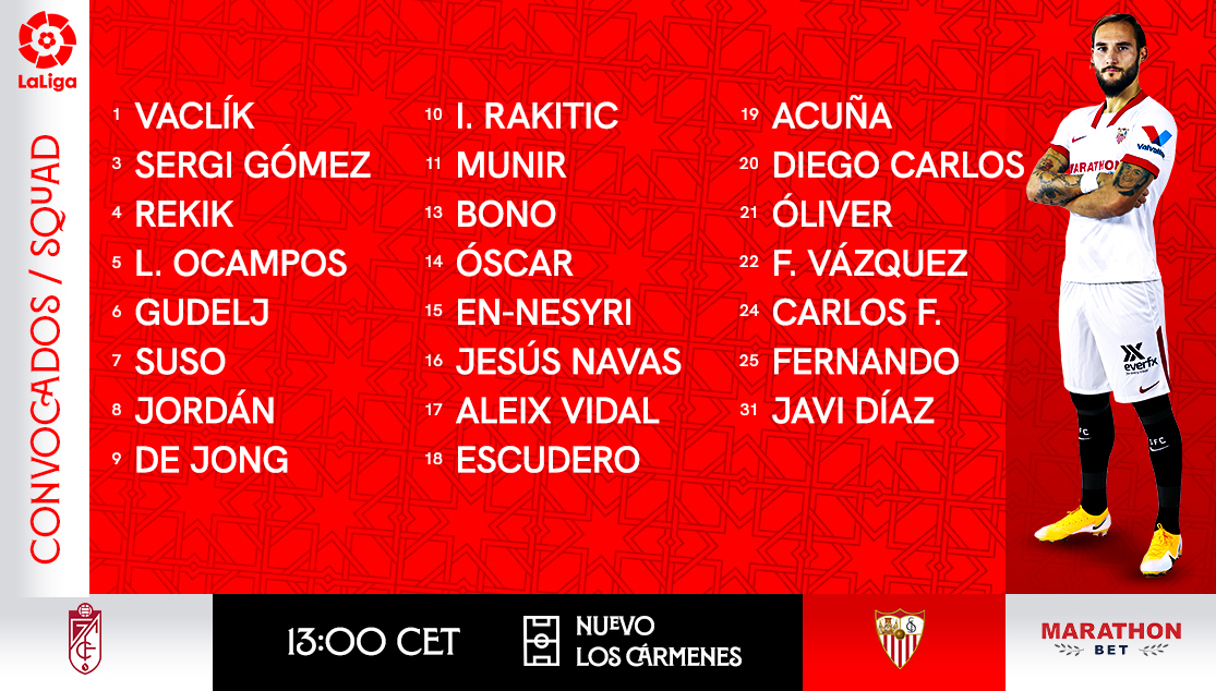 Squad to face Granada