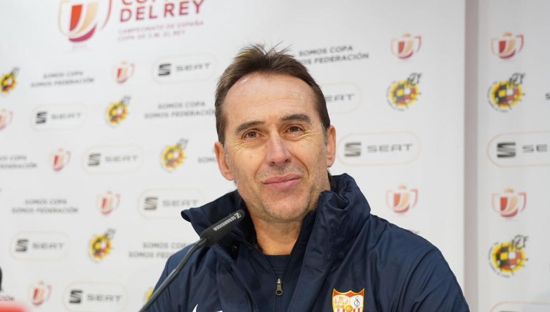 Julen Lopetegui at the Levante pre-match press conference