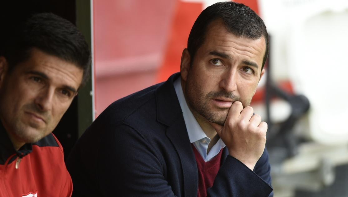 Diego Martínez entrenador del Sevilla Atlético