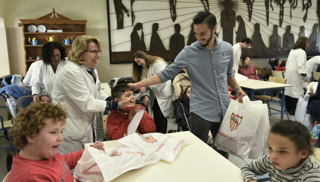 Pablo Sarabia at the Hospital San Juan de Dios