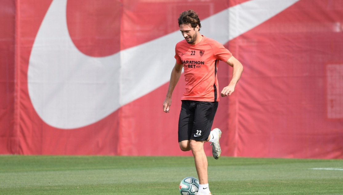 Franco Vázquez in training