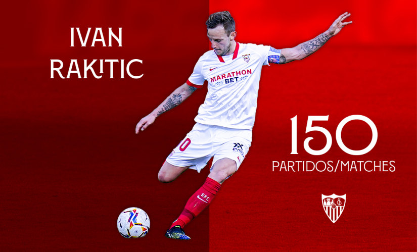 150 league games for Rakitić in Sevilla colours