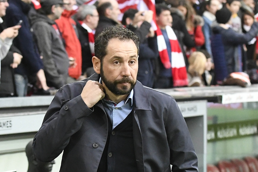 Pablo Machín at the San Mamés
