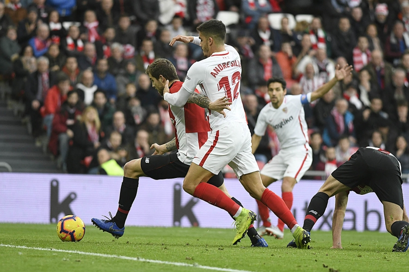 André Silva of Sevilla FC against Athletic Club