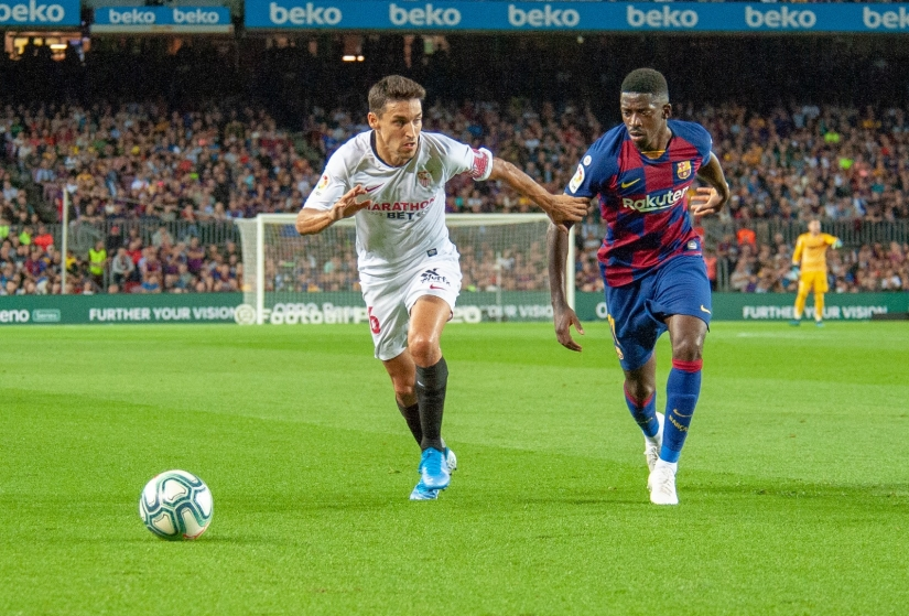 Navas in action against Barcelona