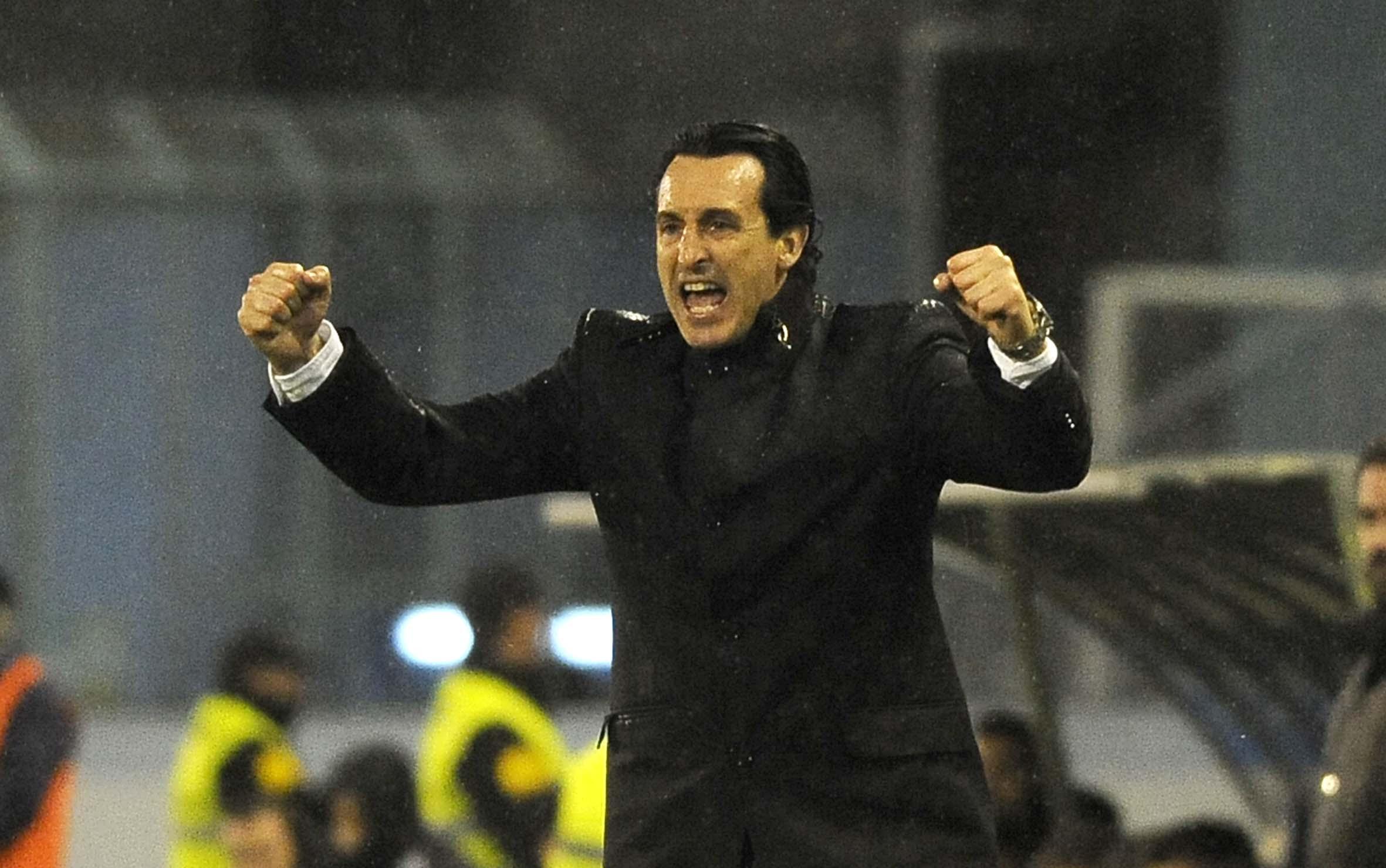 Unai Emery en el Celta-Sevilla de Copa del Rey